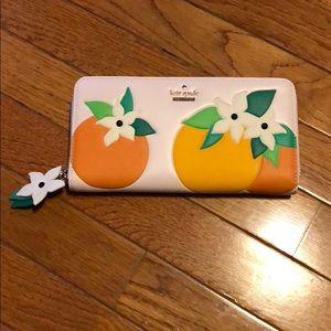 Kate Spade leather orange blossom wallet